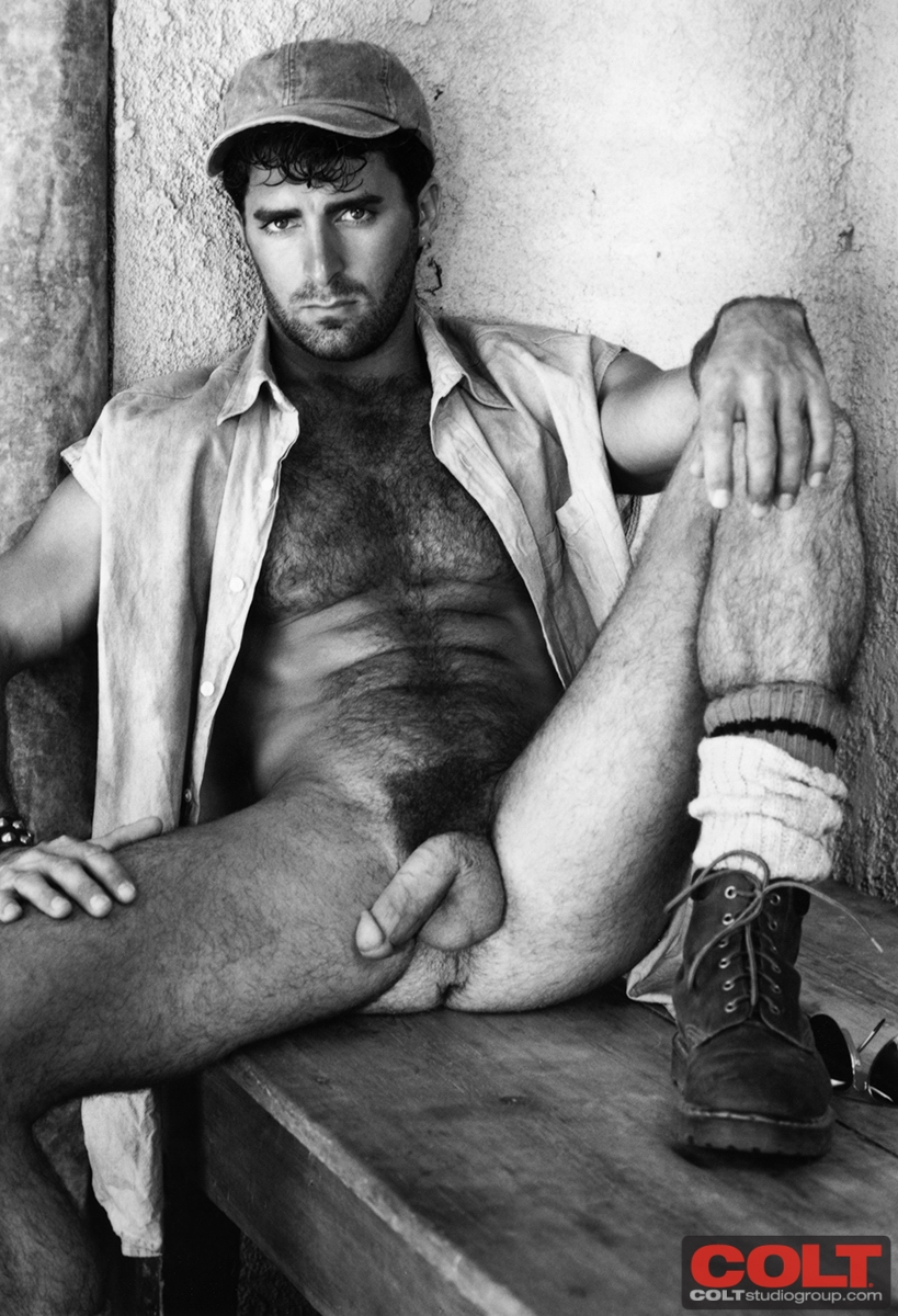 Necessary Young very hairy chested men